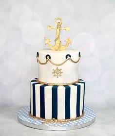 Nautical Cake Nautical cake - Nautical Baby Names - Ideas of Nautical Baby Names - Nautical Cake Nautical cake Nautical Birthday Cakes, Anchor Birthday, Nautical Wedding Cakes, Sailor Birthday, Nautical Cake, Nautical Party, Nautical Baptism, Nautical Food, Nautical Centerpiece