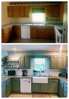 27 Inspiring Kitchen Makeovers- Before and After – Nesting With Grace deinhaus.ml/… 27 Inspiring Kitchen Makeovers- Before and After – Nesting With Grace deinhaus. Updated Kitchen, New Kitchen, Grace Kitchen, 10x10 Kitchen, Awesome Kitchen, Room Kitchen, Kitchen Stuff, Country Kitchen, Home Renovation