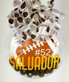 Personalized Football Christmas Ornament by SparklesandSpice11 on Etsy