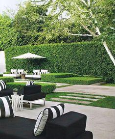 Outside furniture b Outdoor Areas, Outdoor Rooms, Outdoor Living, Outdoor Decor, Garden Pool, Backyard Landscaping, Modern Backyard, Garden Inspiration, Beautiful Gardens