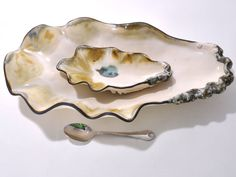 Small Pottery Oyster Dish