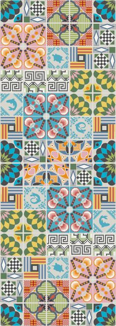 pattern Handmade tiles can be colour coordinated and customized re. shape, texture, pattern, etc. by ceramic design studios