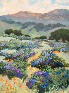 Ellie Freudenstein Impressionist Santa Barbara landscapes Poppies Floral California Landscapes Waterhouse Gallery Santa Barbara Art Dealers Association Santa Barbara Art Galleries Women Artists of the West. Impressionist Paintings, Watercolor Paintings, Impressionist Landscape, Watercolors, Watercolor Trees, Watercolor Artists, Watercolor Portraits, Abstract Paintings, Watercolor Tattoo