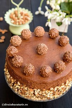 Marbled with Nutella® Glazed Chocolate - HQ Recipes Köstliche Desserts, Delicious Desserts, Pear Cake, Frozen Chocolate, Salty Cake, Ferrero Rocher, Fererro Rocher Cake, Savoury Cake, Cake Cookies