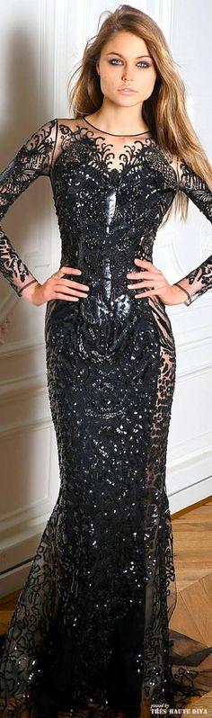 Paris Fashion Week Zuhair Murad Fall/Winter 2014 RTW black