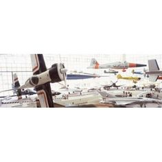 Interiors of a museum Museum of Flight Seattle Washington State USA Canvas Art - Panoramic Images (36 x 12)