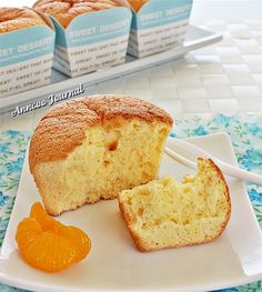 These orange muffins are spongy in every bite and tastes delicious with full of orange flavour even though they're not feather light cakes. Orange Recipes, Sweet Recipes, Easy Recipes, Cakes Without Butter, Dessert Cake Recipes, Desserts, Orange Sponge Cake, Steamed Cake, Postres