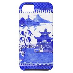 Blue Willow Cell Phone Cover by The Pink Pagoda iPhone 5 Case