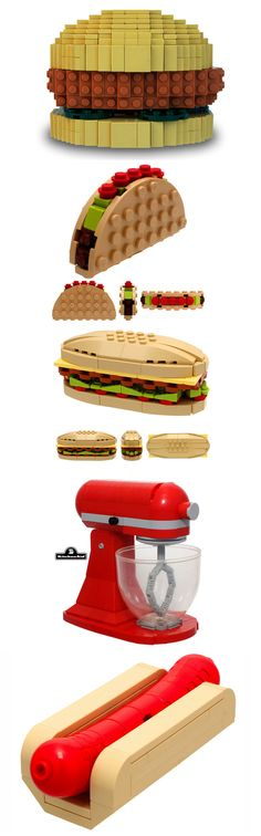 Food made of lego Lego Titanic, Lego Advent Calendar, Lego Sets, Design Lego, Lego Ninjago, Lego Food, Lego Sculptures, Lego Boards, Amazing Lego Creations