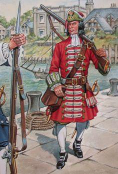 Earl of Pembroke's Marines, 1689.