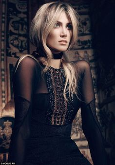Eerie: Delta Goodrem appears in haunting images in a new photoshoot for Vogue Australia, in which she opens up about her seven year relationship with Brian McFadden, whom she split with last year