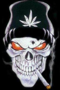 ♥ Ganja Skull ♥