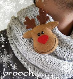 Christmas Ornament Reindeer Rudolph felt decor Christmas reindeer tree decoration new year gift Christmas decorations Rudolph the red nose
