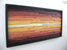Abstract Landscape Painting on Wood Wood Wall by ModernRusticArt