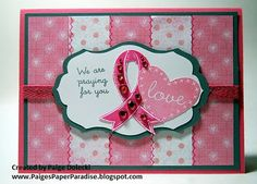 Praying for you breast cancer card - based on a card by Karen Day.