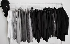 closet and everything is black white and grey #drestfinds @drestmaker