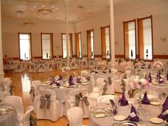 The Ballroom can host a dinner setting for up to 350 guests depending on the amount of staging, serving area, or dance floor that your event would require. Work Party, Dinner Sets, Vinyl Flooring, Staging, Conference Room, Reception, Dance, Lights, Table Decorations