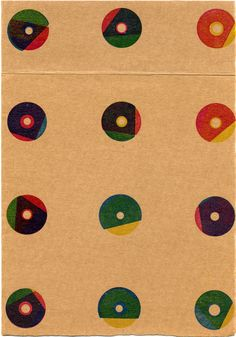 Karel Martens  Untitled, 1996  letterpress on thin cardboard  6 ⁷⁄₈ × 9 ⁷⁄₈ in.