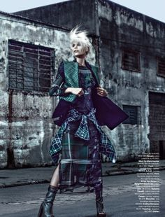 making the best out of your situation, the less material things you have the more you have to be creative with.  Grunge - editorial style