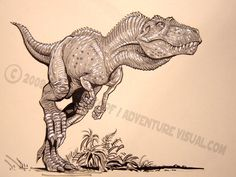 Quick marker illustration of an Albertosaur done at Toronto FanExpo 2008. | Mark Rehkopf