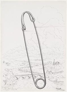 Man Ray, Safety Pin, 1936