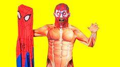 Spiderman Losses His Costumes-Elsa- Elsa Frozen-Spider-Spiderman-Anna-Ma...