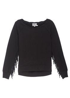 Hi Lo Sweatshirt with Fringe