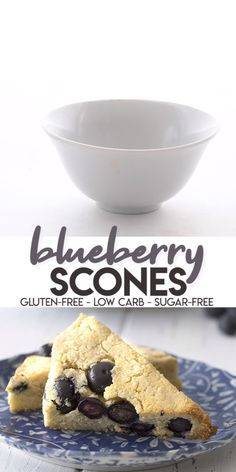 Keto Blueberry Scones A classic! These easy almond flour scones are bursting with juice ripe blueberries. Tender and crumbly, just like a scone should be. They are the perfect low carb breakfast on the go and can be made ahead and frozen too! Low Carb Desserts, Low Carb Recipes, Dessert Recipes, Free Recipes, Dinner Recipes, Low Carb Meal, Keto Flour, Keto Friendly Bread, Comida Keto