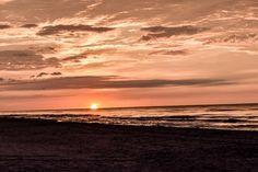 The sun is up at Vadu. From the black sea. Black Sea, Romania, Sun