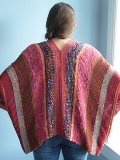 Handwoven Jacket / Shawl / Woven by barefootweaver on Etsy