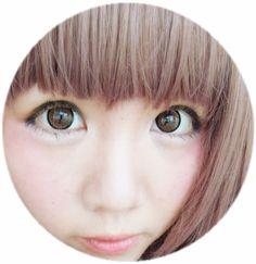 She's wearing Geo Super Nudy Brown ! Kawaii right? Brown Contact Lenses, Circle Lenses, Geo, Kawaii, Photo And Video, Circle Glasses, Color Lenses