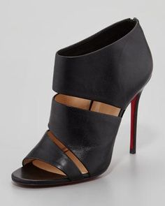 Cachottiere Cutout Red Sole Bootie | Christian Louboutin - Neiman Marcus