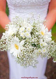 Balıkesi̇r Çiçek - Çiçekler Online - Çiçek Gönder ~ Gelin Eli Beyaz Gerbera,Cipso ve Beyaz Biçme