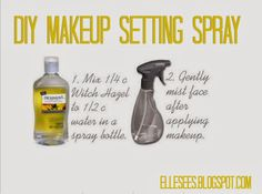 If you're looking for a refreshing makeup setting spray, give this recipe (originally via my Mama!) a try:     Need :     Witch hazel  ...