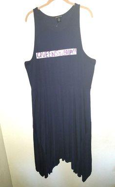 3bc9d59934b New Socialite Womens Plus Size 3 2X Navy Stretch Asymmetrical dress  Sleeveless  Socialite  AsymmetricalHemShirtDress