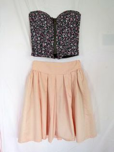 Vintage American Apparel American Apparel 50's 60's 70's Soft Summer A Line Awesome Blush Pleated Pleats Skirt $18
