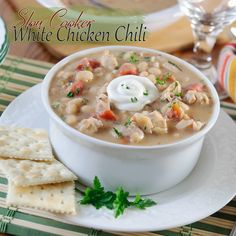 If you've never tried white chicken chili then you gotta try it! If you're in a hurry this is very easy to convert to a stove top meal. This recipe is a keeper. #chicken #chili #MyAllrecipes #Ad #PAMcookingspray