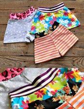 Lil Blue Boo Shorts Set of Three Stars Floral Stripe