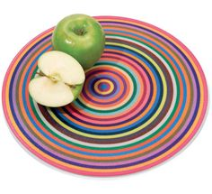 Colorful Rings Cutting Board by Antony Joseph