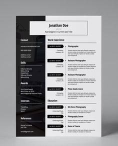 Get this professionally pre-designed, eye catching, amendable, minimalist and modern CV template in PDF format, to give your resume the edge!