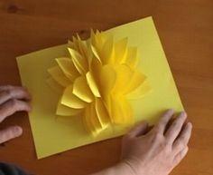 Amazing Pop Up Unbelievable Easy Yellow Flower
