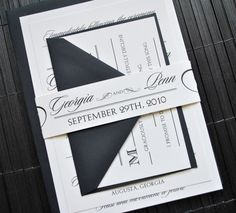 Hollywood Wedding Invitation Suite with Belly Band  by lvandy27, $3.99