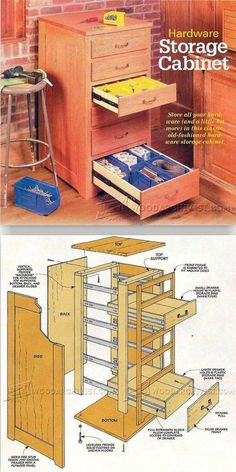 Hardware Storage Cabinet Plans - Workshop Solutions Projects, Tips and Tricks   WoodArchivist.com