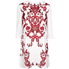 Embrace oriental printing with this tunic dress, £149 from Ted Baker at John Lewis. This tunic is cut with three-quarter sleeves, a round neckline and a mini length, making it perfect for stylish dressing this season. Featuring bold red floral patterning to the front and an exposed metallic zip to fasten at the back. Team with black heels and a matching clutch to finish the look.