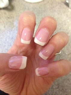 SNS! Organic promotes growth of your real nails! Looks gorgeous! American made. Looks amazing! Better than acrylic and shellac put together! That's my real nails:-)
