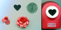 Marvy Uchida Small Heart Shape Paper Punch Quilling Scrapbook Cardmaking | eBay