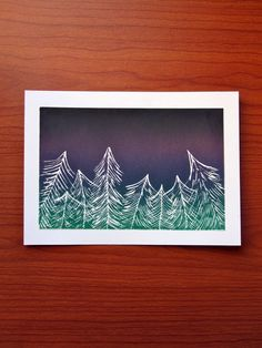 Prairie Lights. Northern Lights. 4 x 6 inches by HaleyPolinsky