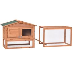 Wooden Rabbit Chicken Coop Poultry Cage Material: Fir wood Overall dimensions: x x (L x W x H) Wooden door size: x (L x W) Iron mesh door size: x (L x W) Tray size: x (L x W) Product weight: 30 lbs Material: Chinese fir Product weight: lbs Outdoor Rabbit Hutch, Poultry Cage, Waterproof Paint, Small Animal Cage, Wooden Rabbit, House Rabbit, Rabbit Hutches, Animal Habitats, Pet Cage