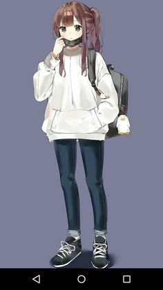 Avatar na Parkour Poland Roleplay Cool Anime Girl, Pretty Anime Girl, Beautiful Anime Girl, Kawaii Anime Girl, Anime Girls, Anime Girl Drawings, Manga Drawing, Cute Drawings, Chica Anime Manga