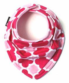 This Light Pink & Dark Pink Quatrefoil Scarf Bib is perfect! #zulilyfinds